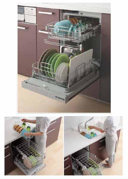 食器洗い乾燥機(フロントオープン・通いかご)